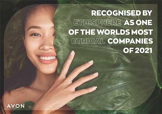 Avon визнана однією з найбільш етичних компаній в світі на 2021 рік.